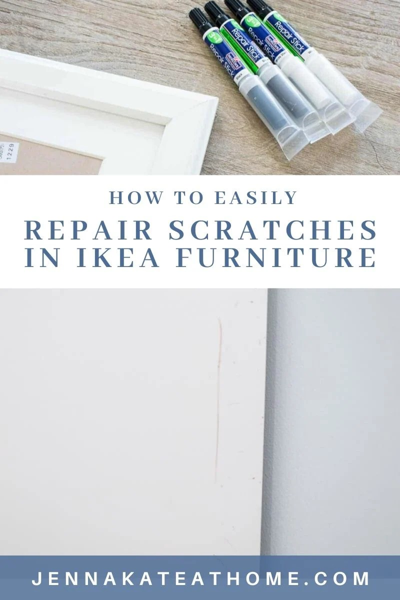 how to quickly an easily repair scratches in Ikea furniture - this is such a great little product to have on hand and it works great!