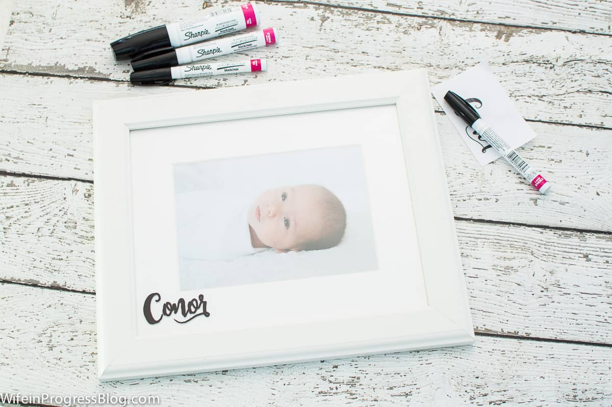 easy personalized photo frame