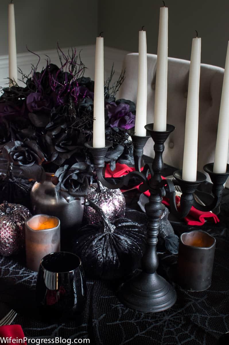 Halloween decor - a elegant gothic table setting