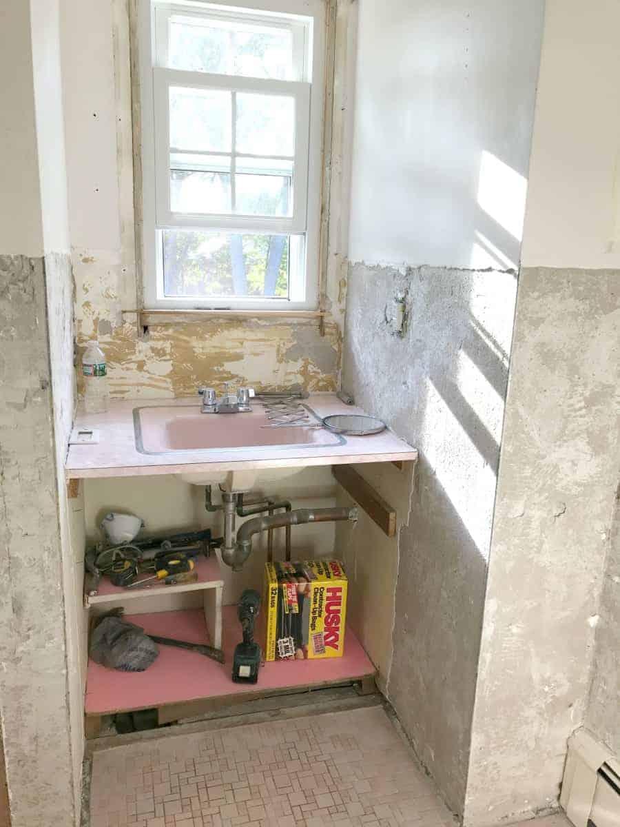 Pink Bathroom Makeover - One Room Challenge Week 2