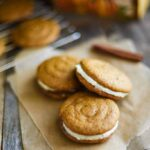 The best recipe I've ever tried for pumpkin whoopie pies with cream cheese frosting