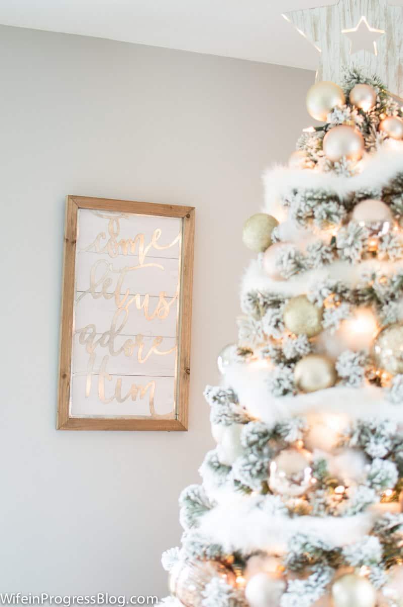O Come sign - Christmas shiplap decor