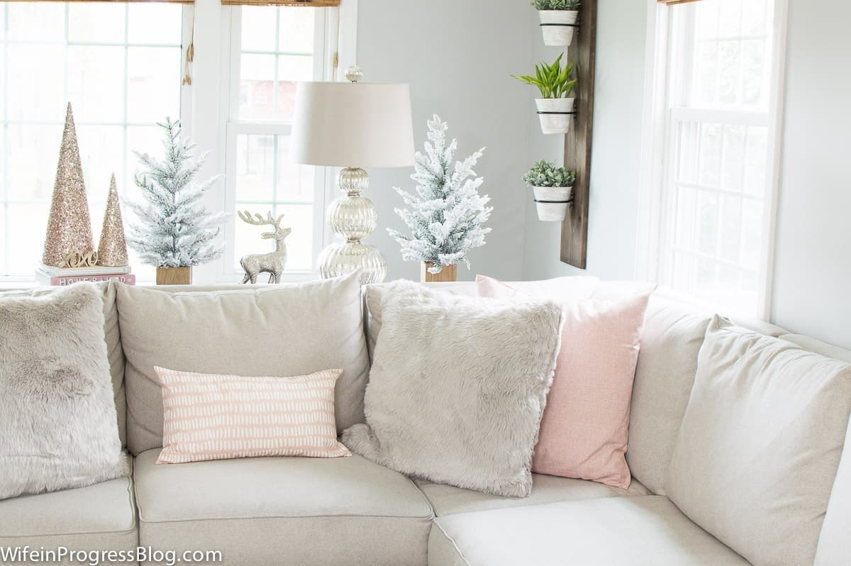 Decorating with pink during the holidays
