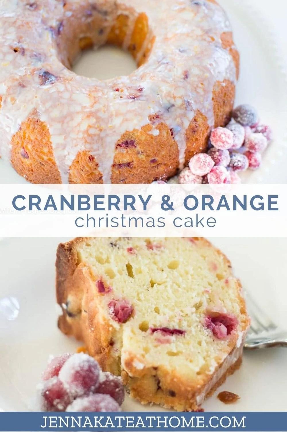 cranberry orange Christmas cake