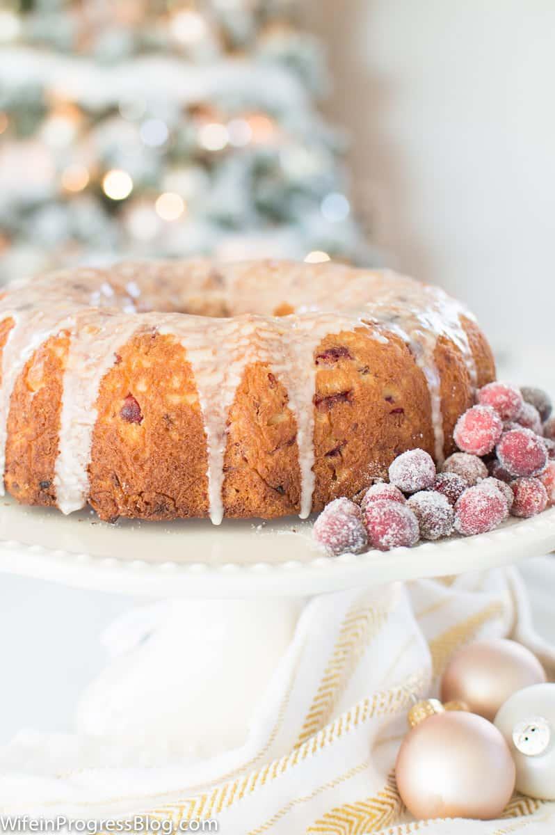 Cranberry Bundt Christmas Cake