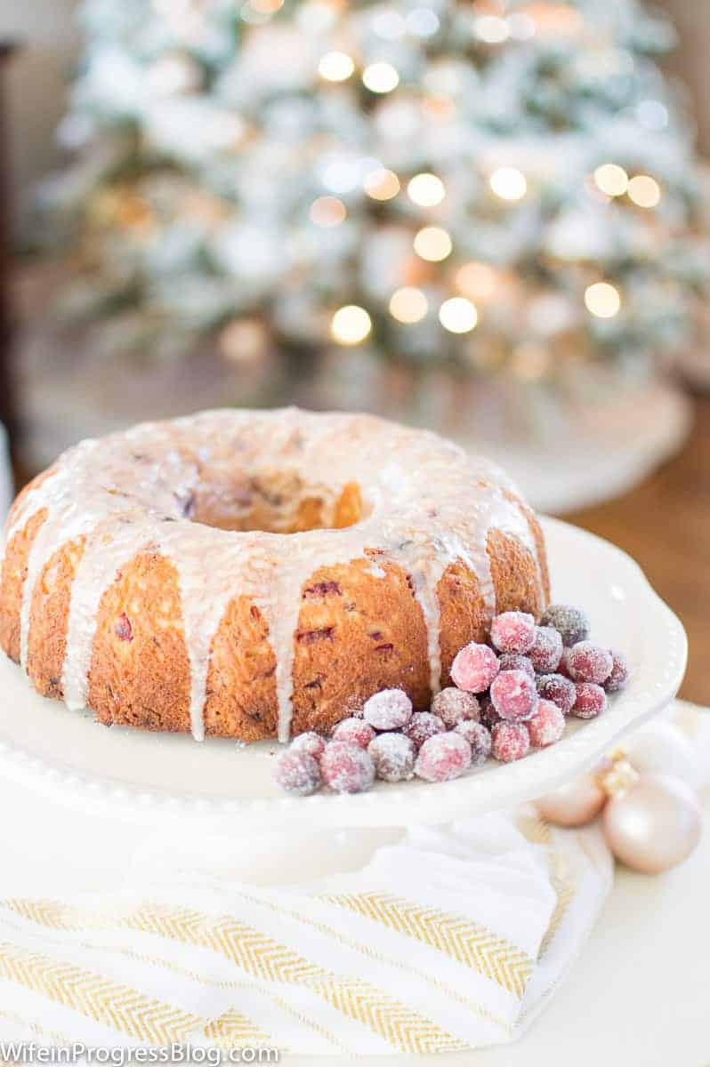 cranberry cake for the holidays