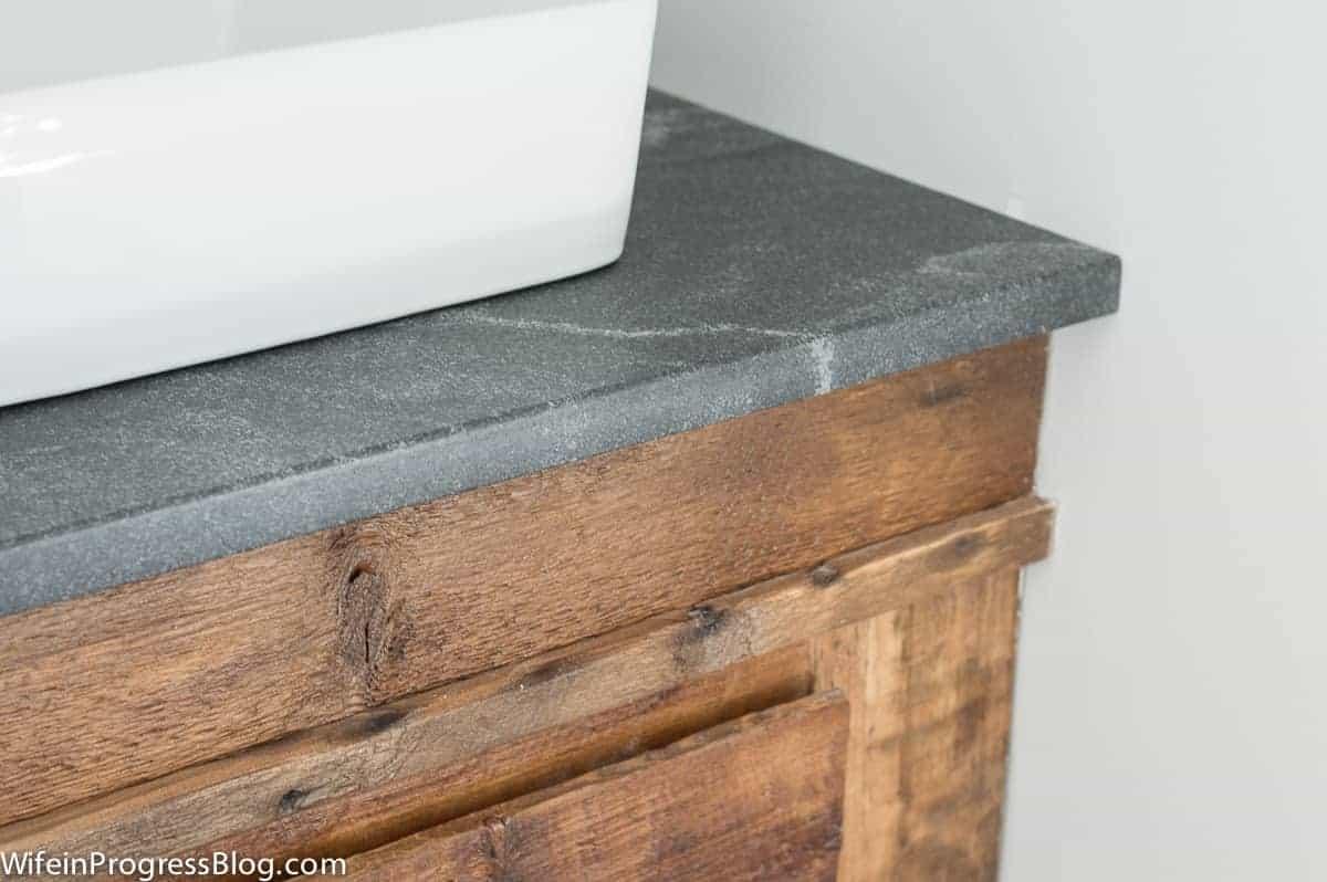 Beautiful Jet Mist honed granite