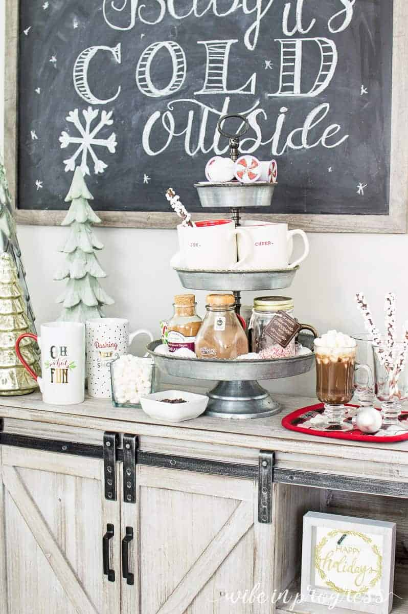 This is a simple idea for a hot chocolate bar for Christmas