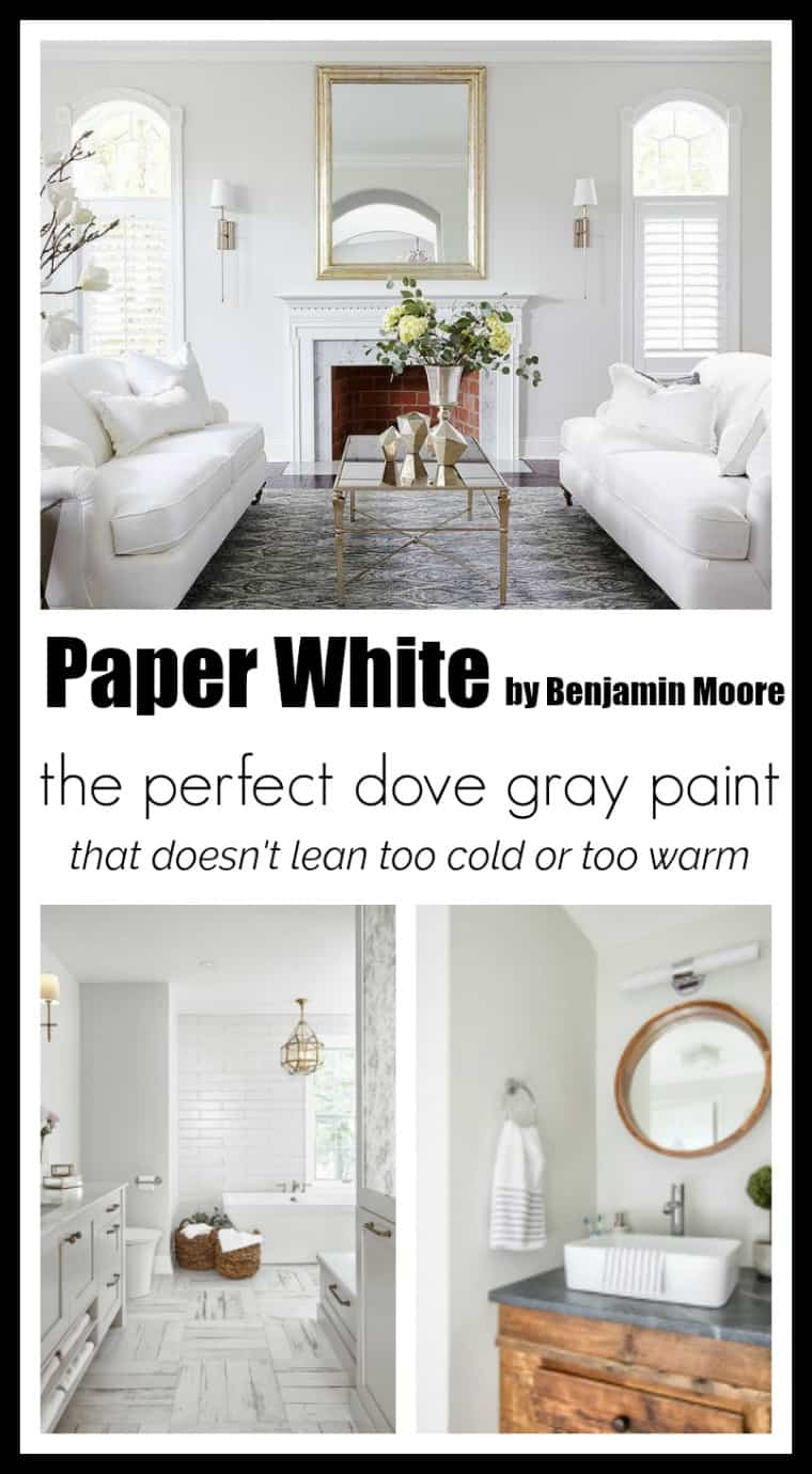 Rooms painted with Paper White by Benjamin Moore