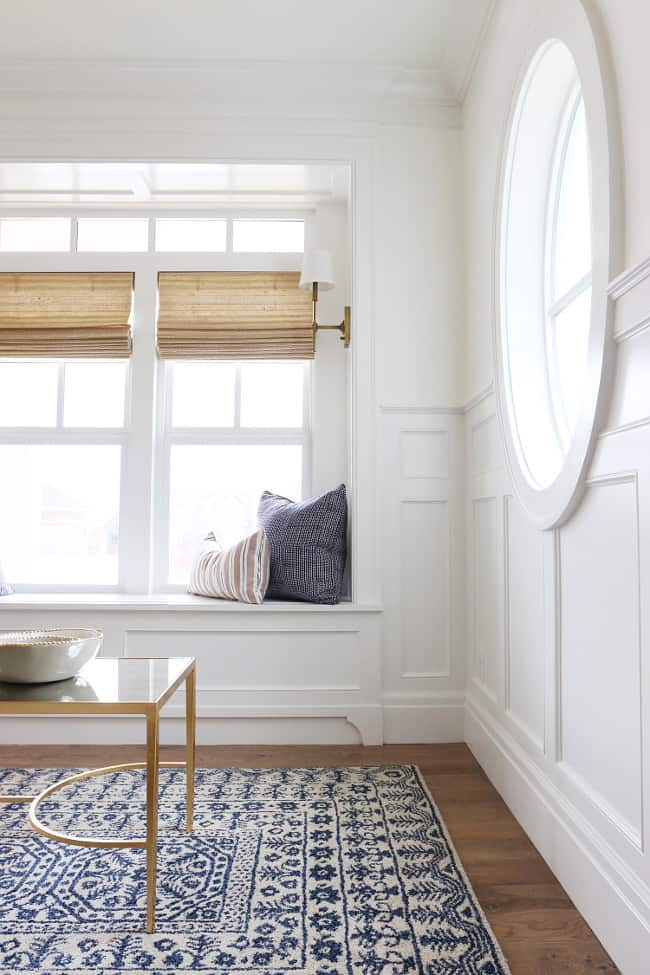 Benjamin Moore Simply White - a warmer white with a slight yellow undertone