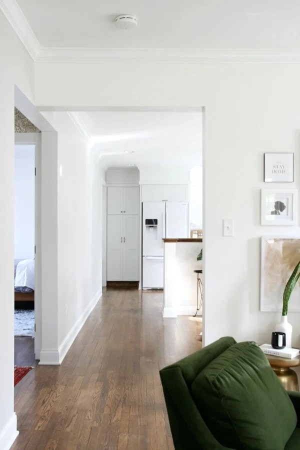 Benjamin Moore's Super White is a very safe white since it has no undertones