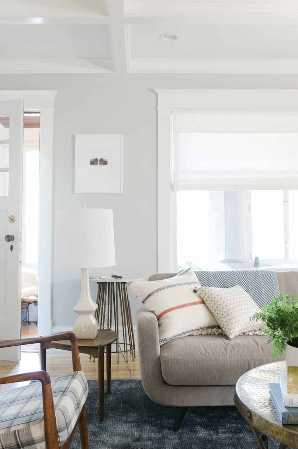 Sherwin Williams Pure White Trim Paint is a great choice for trim paint as it has minimal undertones and works with any wall color.