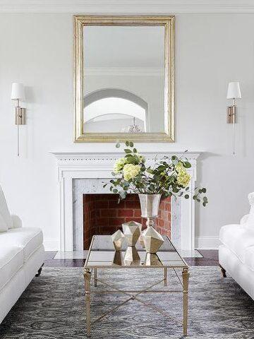Benjamin Moore Paper White Living Room