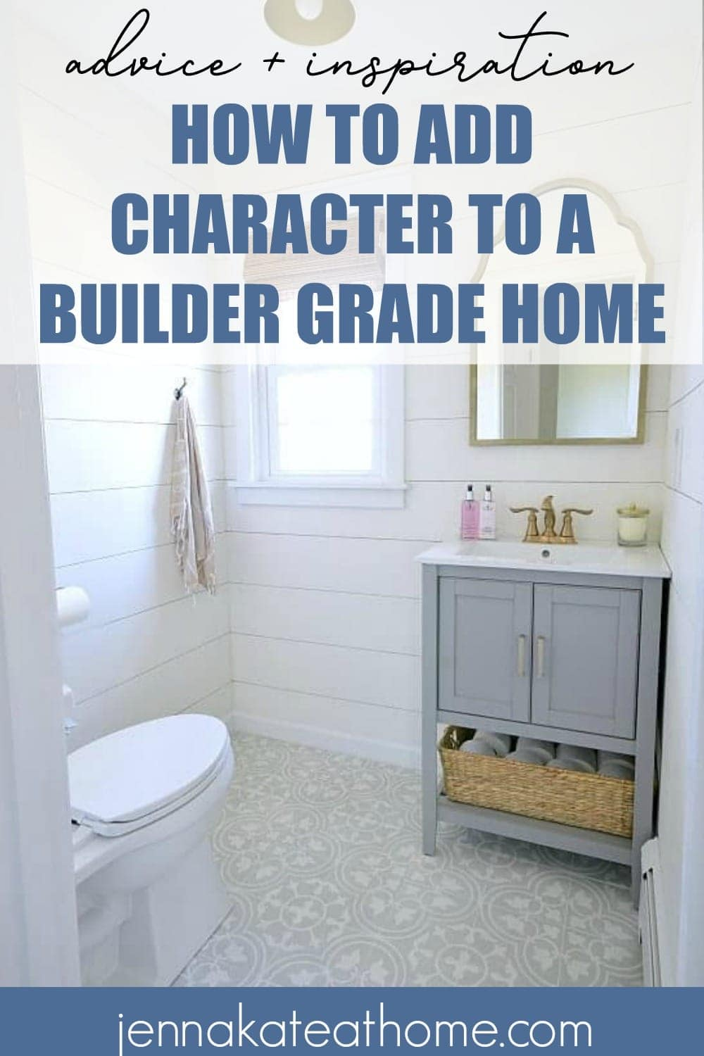 how to add character to a boring builder grade home