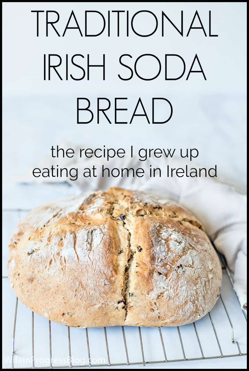 Traditional Irish Soda Bread Recipe PINNABLE