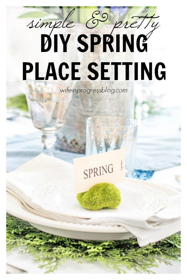DIY spring place setting