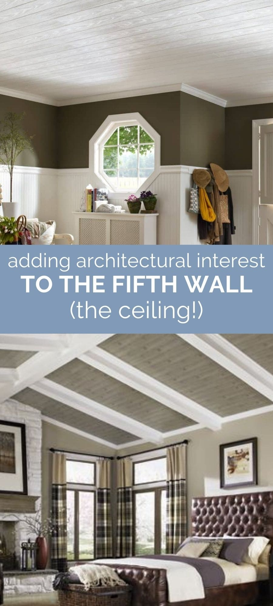 add interest to the ceiling