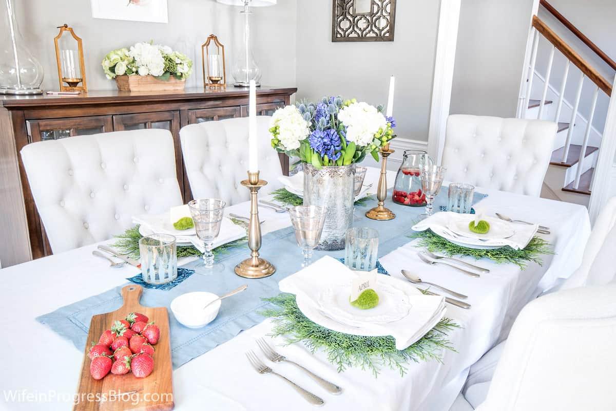 diy spring table setting idea