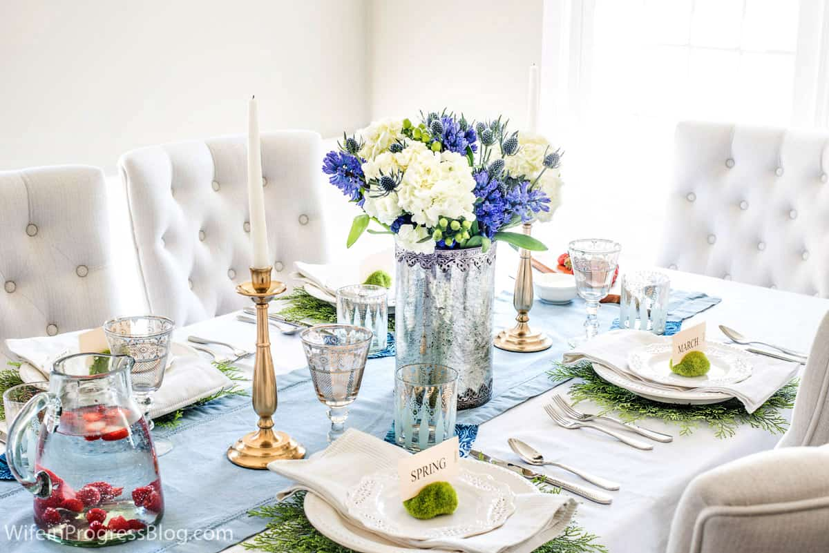 Simple spring DIY table decorations