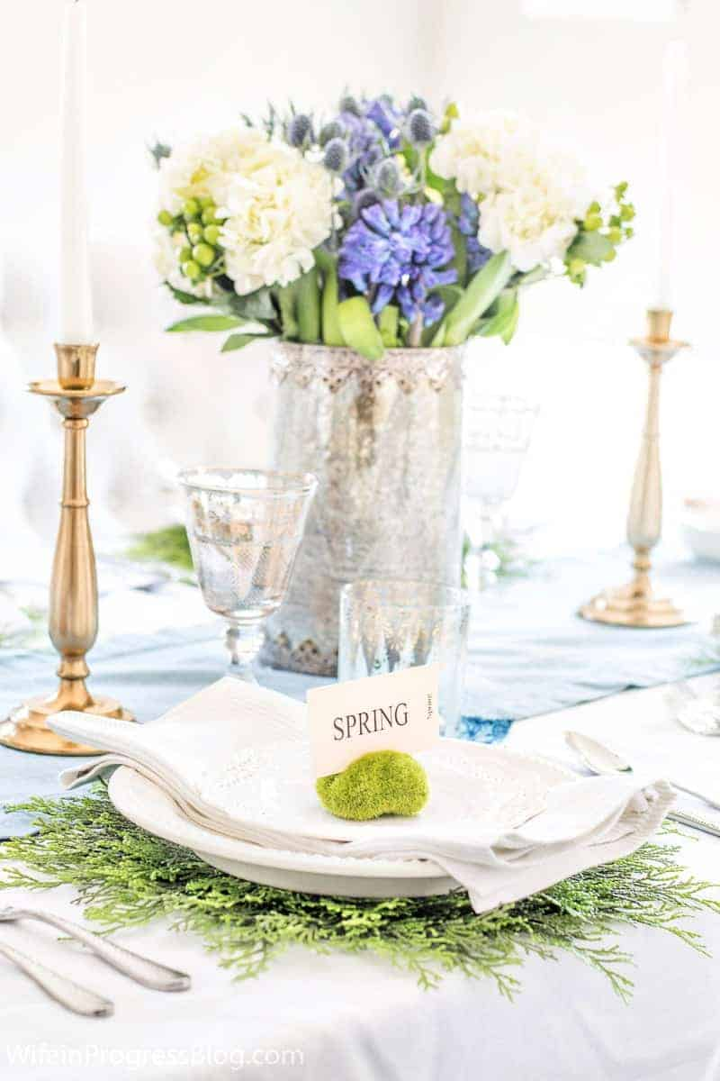 Simple spring DIY table setting