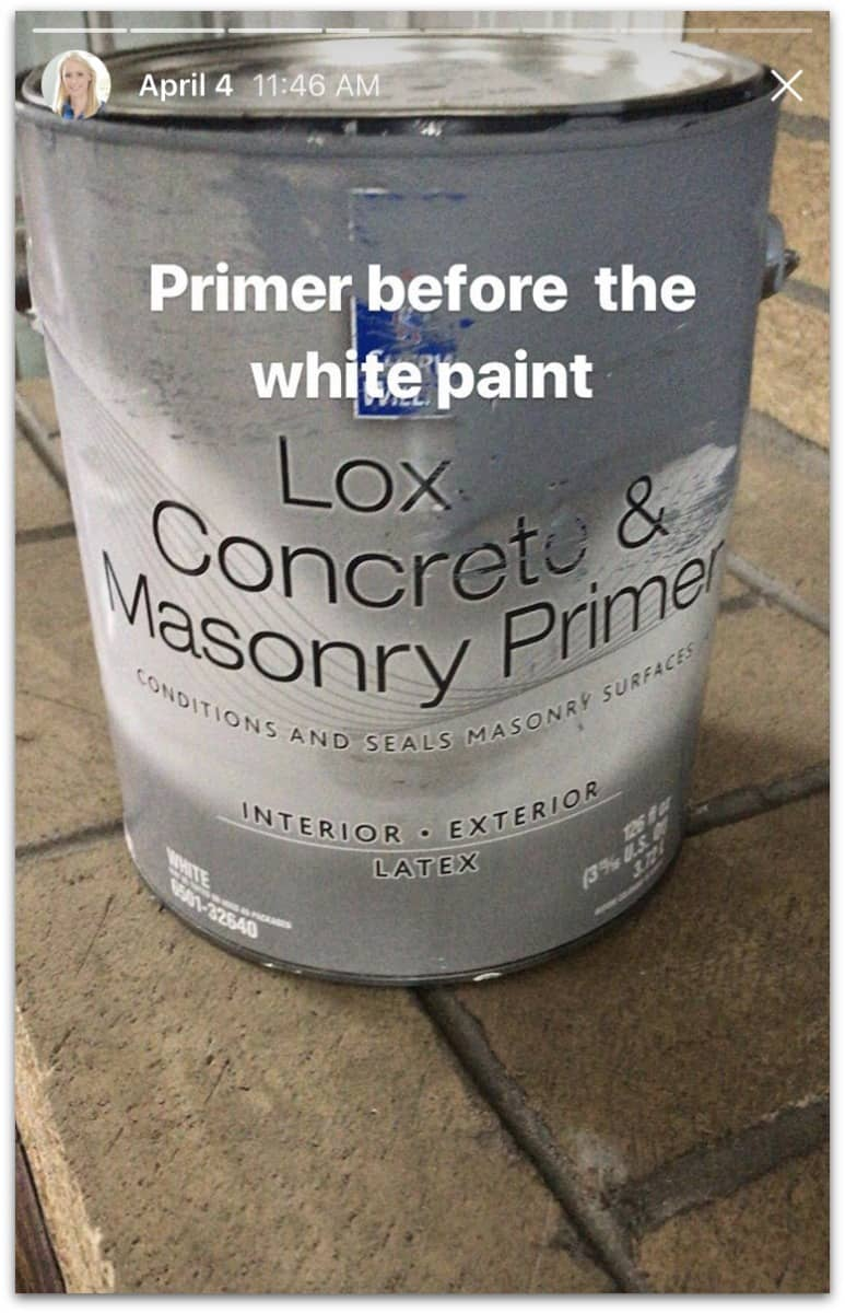 Masonry Primer for painting the natural bricks - latex paint with a grey tone