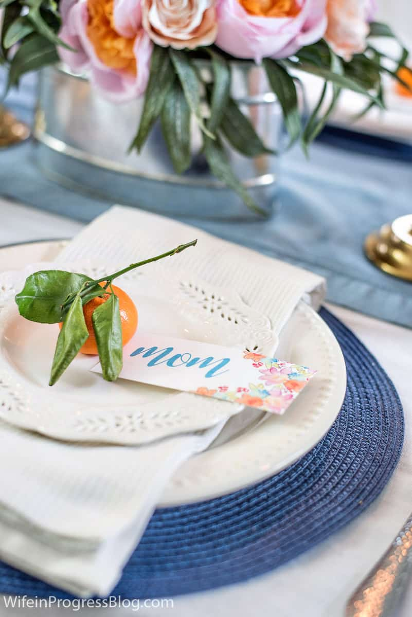 Free printable mother's day place setting