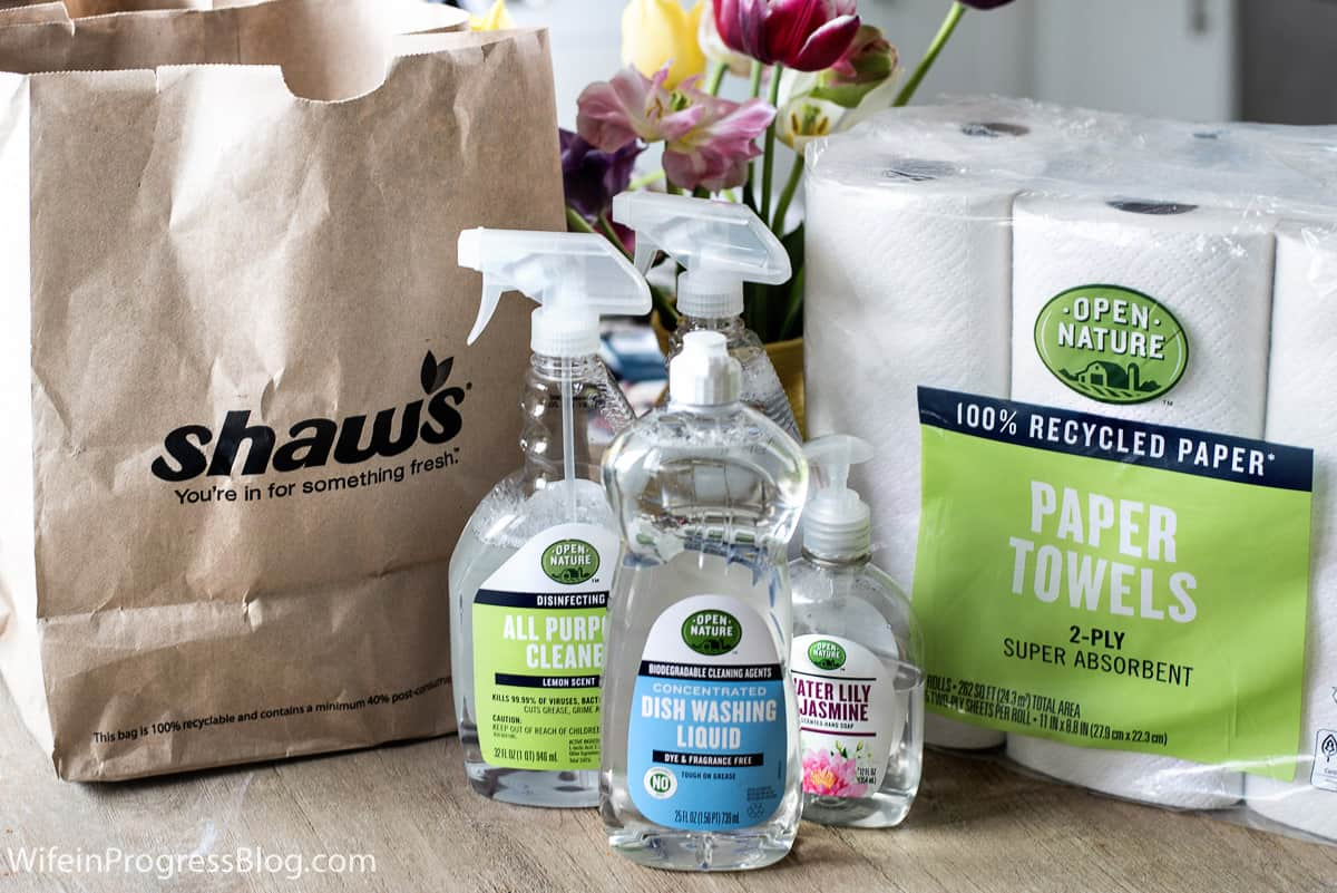Open Nature Cleaning Products Sold Exclusively in the Boston area at Shaw's & Star Market Stores