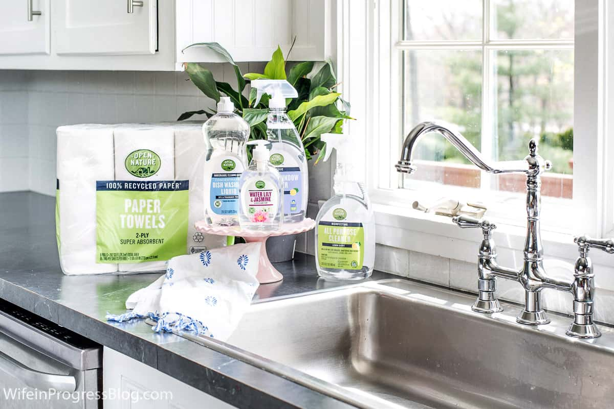 My weekly kitchen cleaning routine with Open Nature Cleaning Products