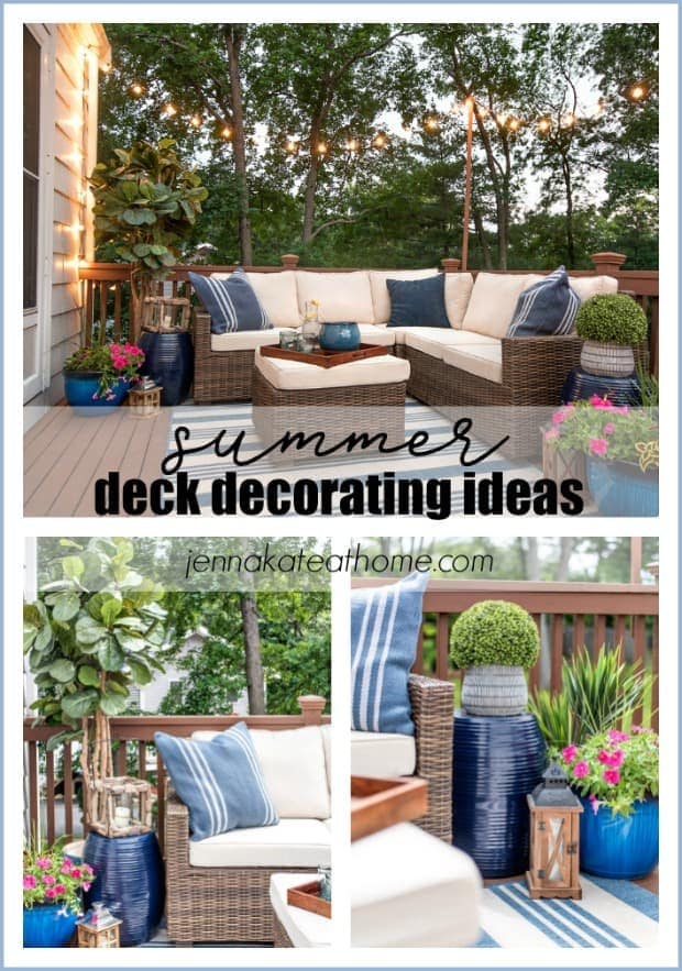 Small deck decorating ideas with string lights