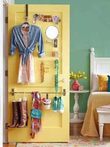 Back of the door storage: Clever ways to organize your small bedroom on a budget