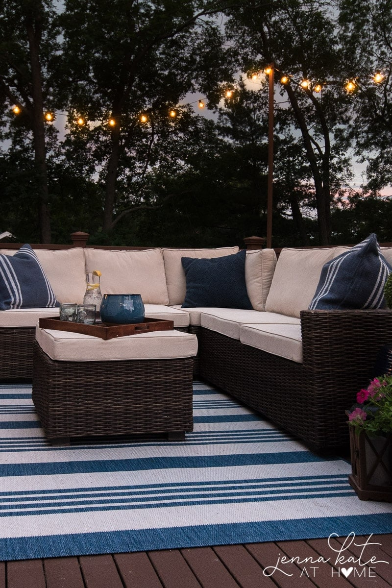 Get the most out of your deck or patio by hanging string lights