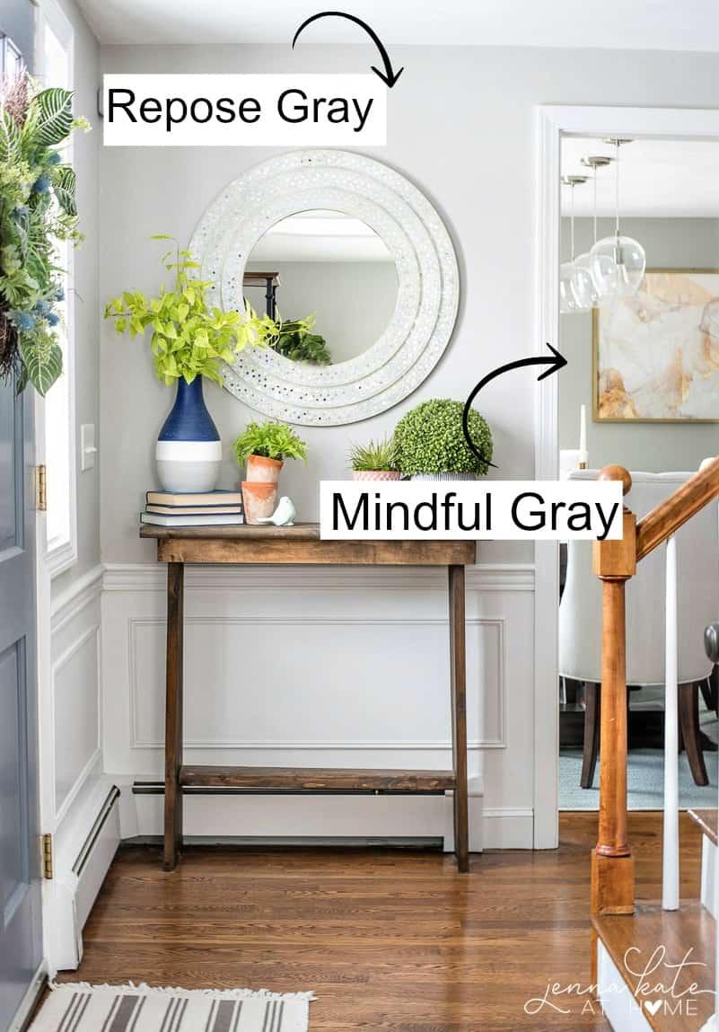 Sherwin Williams Mindful Gray vs Repose Gray