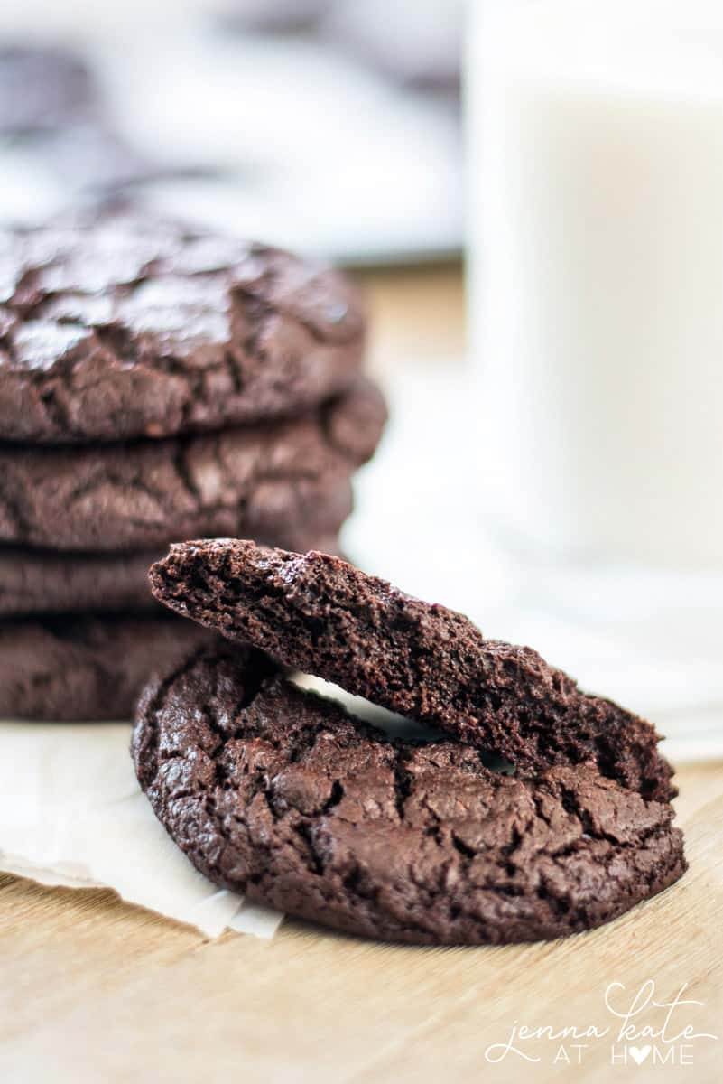 Double chocolate paleo cookies. Easy to make with only a few clean ingredients