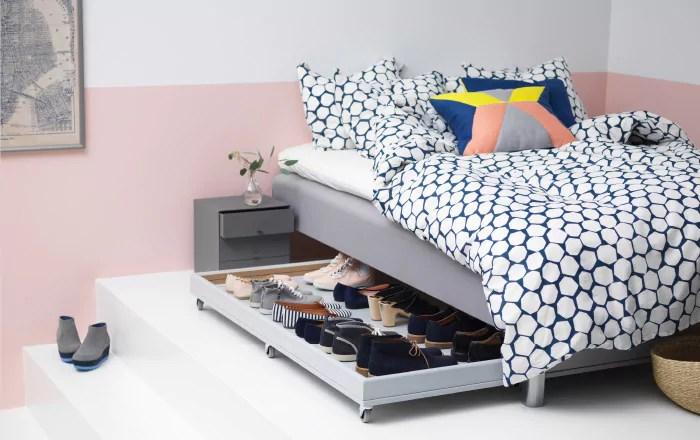 DIY storage idea for a small bedroom