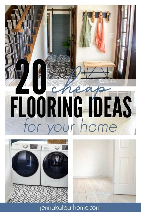 20 Cheap Flooring Ideas For Your Home Jenna Kate At Home