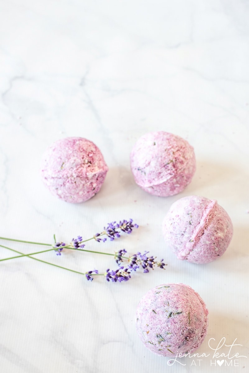homemade lavender bath bomb recipe
