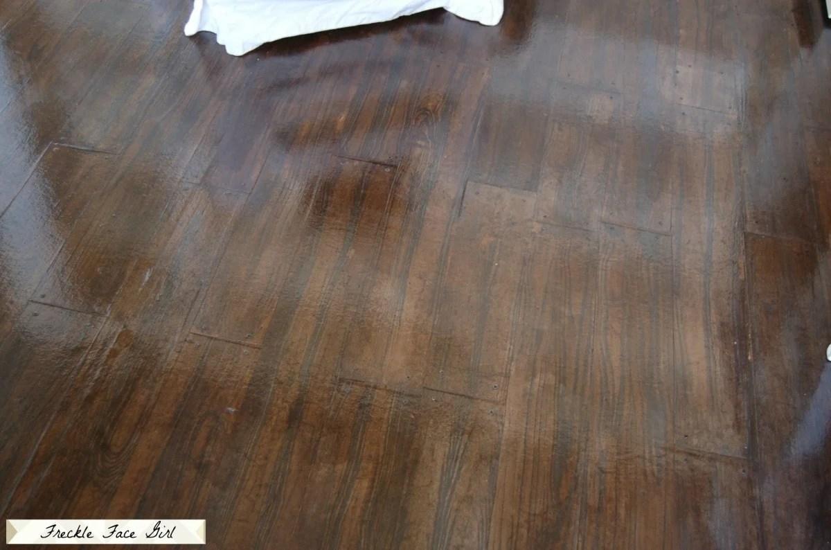 paper bag faux hardwood floors