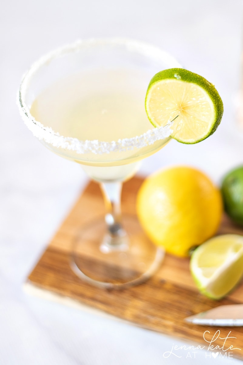 A homemade margarita is the perfect drink for your summer parties.