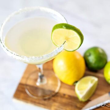 Making your Margarita Mix from scratch requires four simple ingredients - limes, lemons, sugar and water. It's so easy to make at home and absolutely delicious!