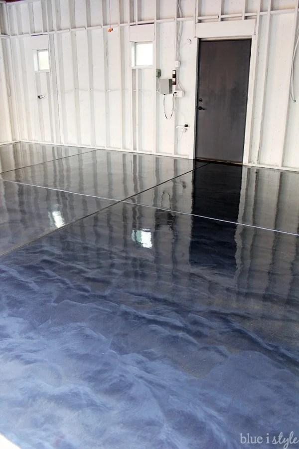 Epoxy coating on garage floor