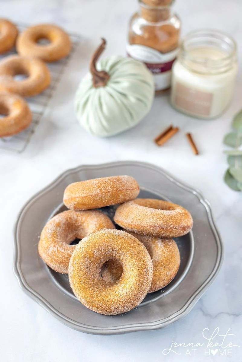 These easy pumpkin spice donuts are an easy fall breakfast recipe