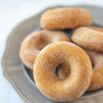 Baked pumpkin donuts with cinnamon sugar