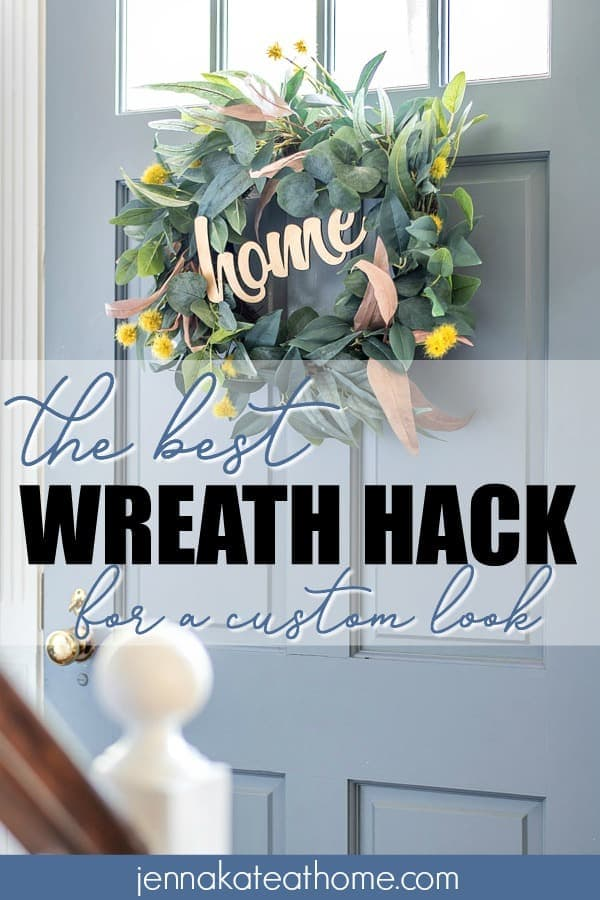 Turn a store bought wreath into one that looks custom with this simple hack that you'll have wished you thought of sooner!