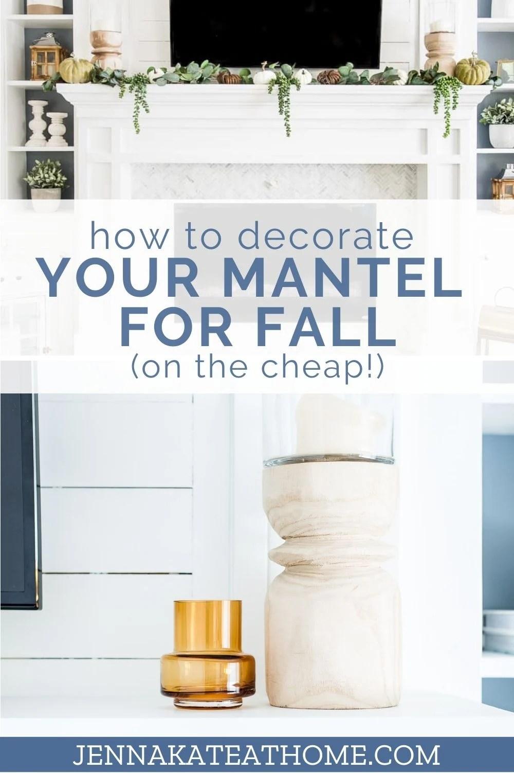 cheap fall mantel decor