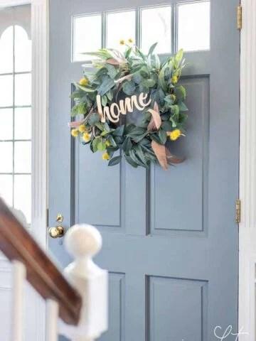 easy wreath hack for a custom look