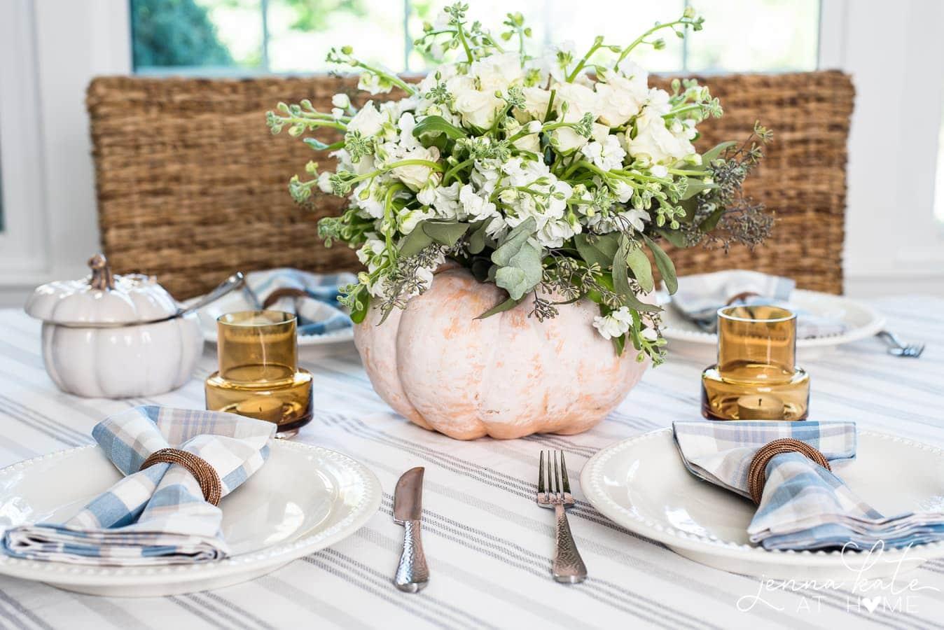 simple fall table decor