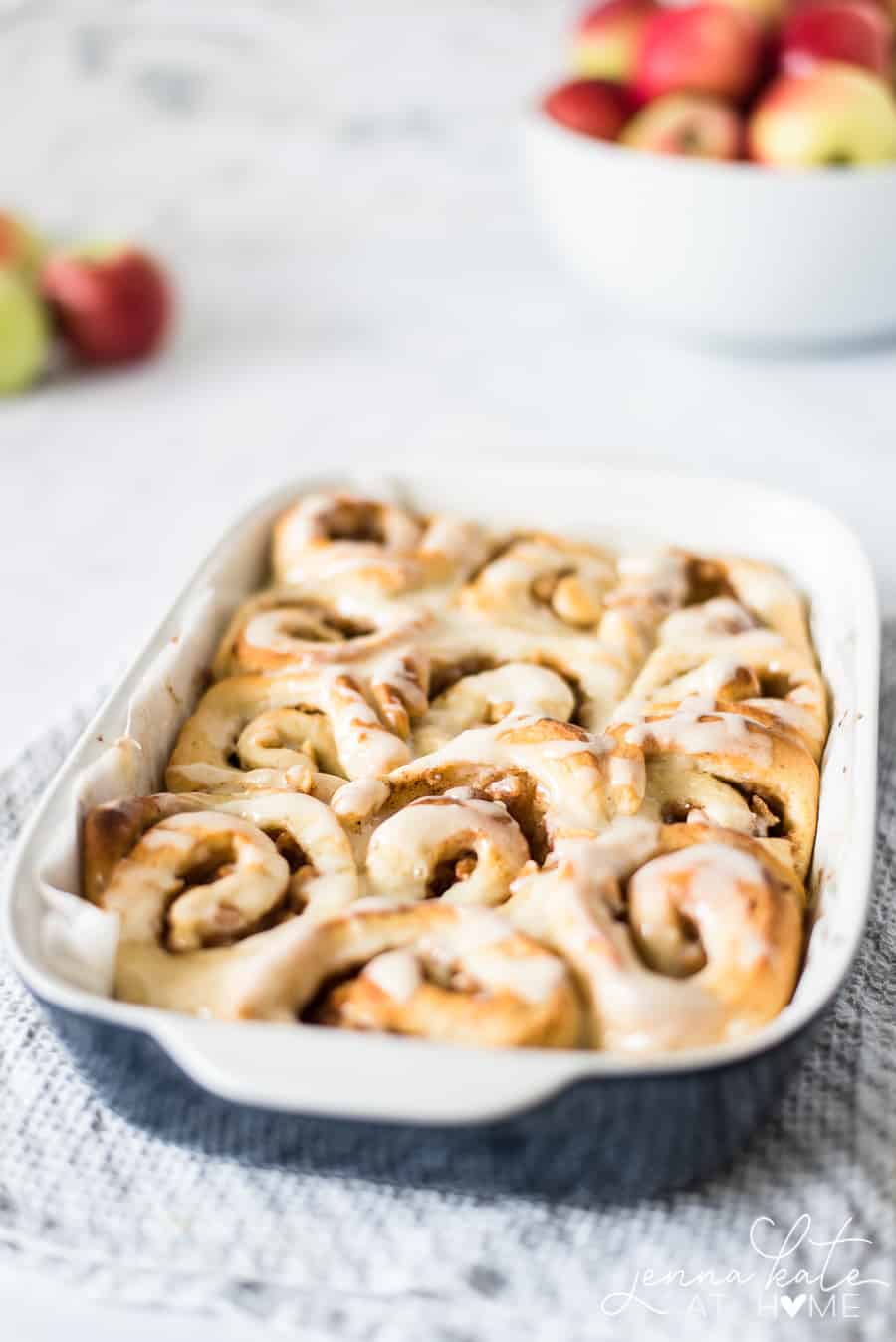 Cinnamon roll with apple pie filling. Say bye to Pillsbury and hello to homemade!