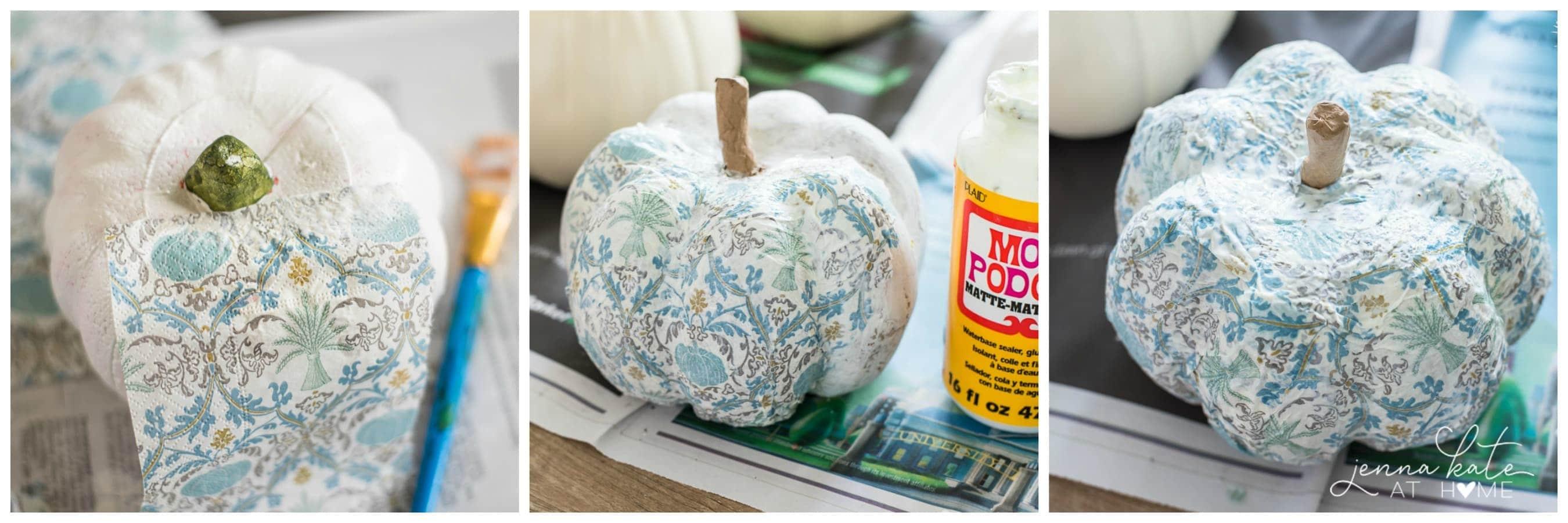 A fun and creative fall pumpkin decorating idea
