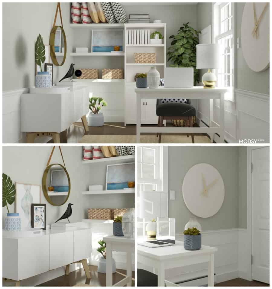 small home office design by Modsy