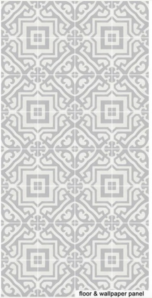 Moroccan tile effect vinyl floor sticker decals